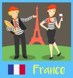 Les gens des Frances Image libre de droits