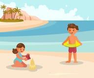 Les gens des vacances d'été illustration stock
