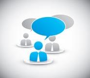 Les gens discutant ensemble le vecteur d'icônes Images stock