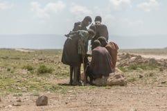 Les gens du monde - groupe de Maasai photographie stock