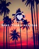 Les gens du pays de rassemblement choisissent dater Valentine Romance Heart Love Passion C Image stock
