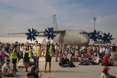 Les gens en événement 2018 de salon de l'aéronautique d'Euroasia à Antalya, Turquie Photographie stock