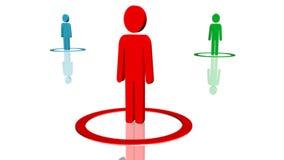 Les gens en cercles multicolores illustration libre de droits