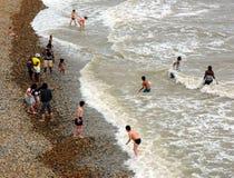 Les gens en mer Photos libres de droits