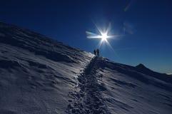 Les gens en montagnes Photo libre de droits