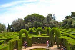 Les gens en parc Labirint Image stock