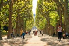 Les gens en parc Paris photographie stock libre de droits
