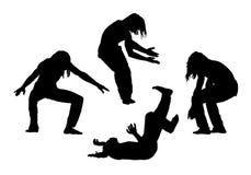 Les gens en silhouettes de mouvement ont placé 1 Photo libre de droits