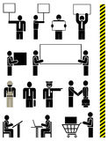 Les gens - ensemble de graphismes de vecteur Photo libre de droits