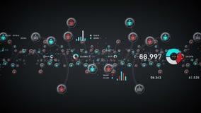 Les gens et l'argent de données illustration de vecteur