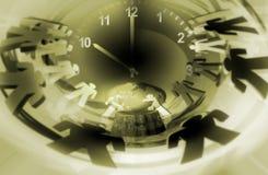 Les gens et l'horloge Photo libre de droits