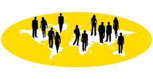 Les gens et la carte Image stock