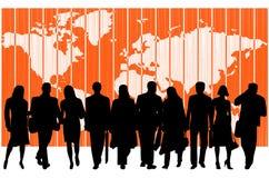 Les gens et la carte Photo libre de droits