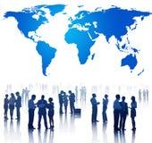 Les gens et la réunion d'affaires globale Images libres de droits