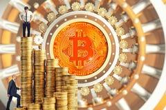 Les gens et le bitcoin Photo stock