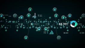 Les gens et le bleu de données illustration de vecteur