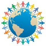 les gens et le globe illustration de vecteur