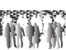 Les gens et le mur Image libre de droits