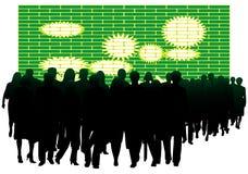 Les gens et le mur Photos libres de droits