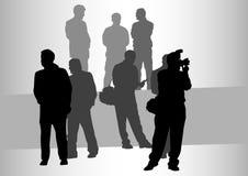 Les gens et le photographe illustration de vecteur