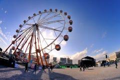 Les gens et une roue de ferris chez Heineken Primavera retentissent le festival 2013 Photo stock