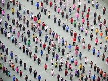 Les gens exécutent Taiji Quan pendant le matin Photo libre de droits