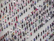 Les gens exécutent Taiji Quan pendant le matin Image libre de droits
