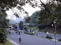 les gens faisant la protestation politique au Br?sil photographie stock libre de droits