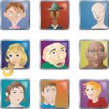 Les gens font face à des avatars de graphismes Photos libres de droits