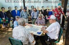 Les gens jouant le domino Photos libres de droits