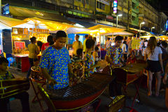 Les gens jouant le xylophone Photo stock