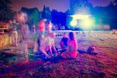 Les gens la nuit Image libre de droits