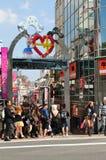 Les gens marchant dans Harajuku Images libres de droits