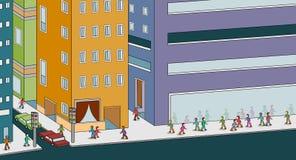 Les gens marchant la ville illustration libre de droits