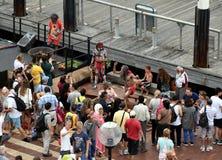 Les gens observant la représentation indigène du ` s de peuples indigènes Photo libre de droits
