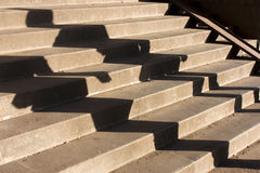 Les gens ombragent sur l'escalier Images stock