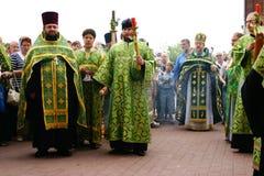 Les gens orthodoxes célèbrent un Pentecost Image stock