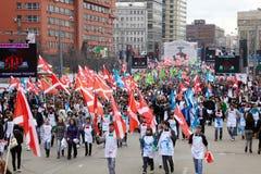 Les gens participent à la marche Image stock