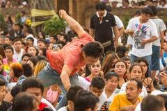 Les gens pendant la célébration Nyepi - jour de Balinese de silence Photos libres de droits