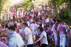 Les gens pendant le Haro Wine Festival Images stock
