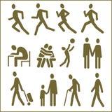Les gens, pictogrammes Photo stock
