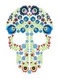Les gens polonais colorés ont inspiré par art mexicain traditionnel de crâne de sucre avec les éléments floraux de modèle Images libres de droits
