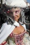Les gens posant dans le costume de luxe à Venise, Italie 2015 Images libres de droits