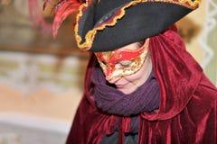 Les gens posant dans le costume de luxe à Venise, Italie 2015 Image stock