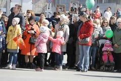Les gens pour la célébration de Victory Day, peuvent 9, 2018 Photo libre de droits
