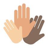 Les gens remettent montrer à doigt de symbole de direction de poignet de salutation le vecteur humain de concept de pouce illustration libre de droits
