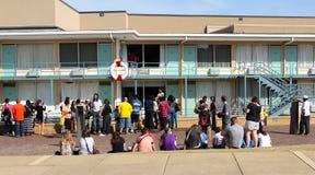 Les gens rendent visite à Lorraine Motel, Memphis Tennessee. Image libre de droits