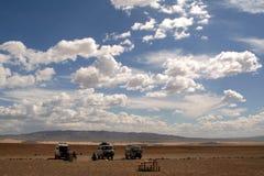 Les gens se déplaçant autour de la Mongolie Images stock