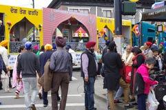 Les gens se réunissant pendant le défilé de Vaisakhi Photo libre de droits