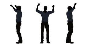 Les gens silhouettent - encourager d'homme illustration libre de droits